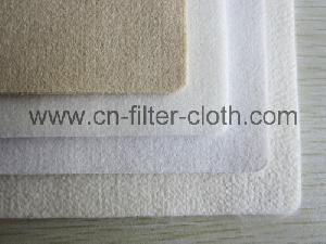 pet air flow press drop needle punched felt filter