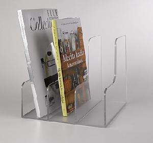 acrylic book magazine rack