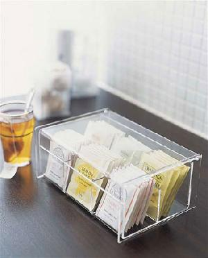 acrylic tea box lid