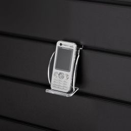 acrylic perspex slatwall mobile phone display