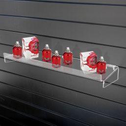 acrylic perspex slatwall shelf