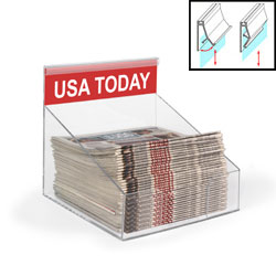 acrylic countertop newspaper display rack