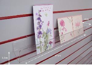 acrylic slat wall card display shelf