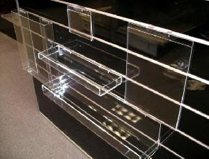 acrylic slat wall display