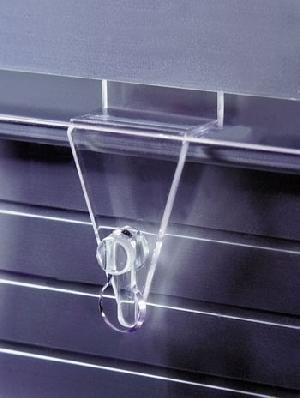 acrylic slat wall display hook