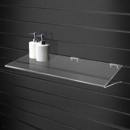 acrylic slat wall vshape display shelf