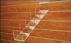acrylic slat wall wallets display rack