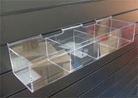 acrylic slatwall 4 compartment trough