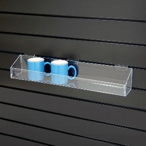 acrylic slatwall container