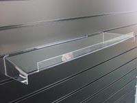 acrylic slatwall front lip shelf