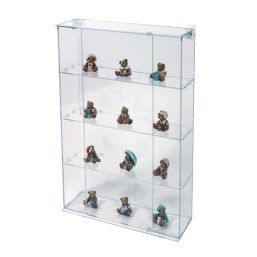 four tier acrylic perspex slatwall display case