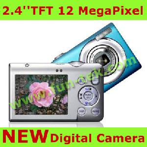 2 4inch digital camera 12 0 mp 8xdigital mp3 8gb sd usb li ion blue green silve