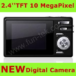 2 7 digital camera 10mp 8xdigital mp3 8gb sd usb li ion blue green silver
