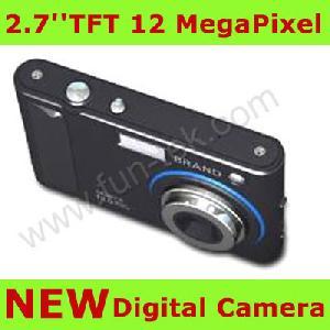 2 7inch digital camera 12mp 8xdigital mp3 16gb sd usb li ion blue green silver