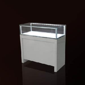 wooded glasses jewelry display cases led light system