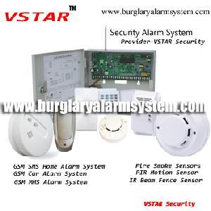 16 hardwired wireless zones burglar alarm systems gsm module backup