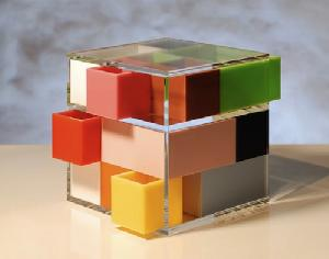 acrylic cube lucite home furnishing
