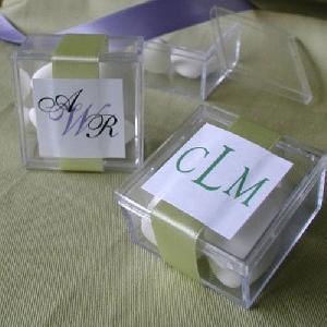monogram acrylic box