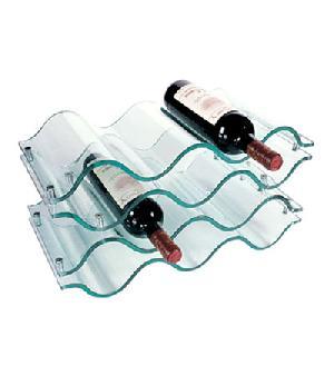 acrylic 10 bottle wine rack
