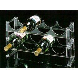 acrylic 2 tier wine display rack