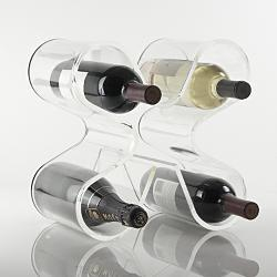 clear acrylic wine holder