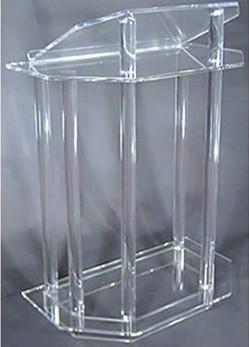 crystal clean acrylic lectern