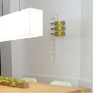 slat wall acrylic wine rack