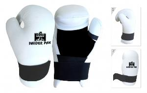 boxing gloves leather karate open punch glove