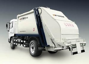 compression refuse truck garbage collector