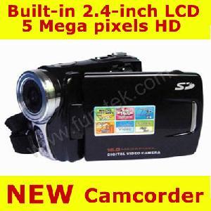 2 4 tft lcd 5 0 mp 4xzoom hd digital video camcorder camera dv 8gb