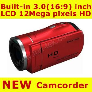 3inch tft lcd 12mp 4xzoom hd digital video camcorder camera dv 8gb odm accepted
