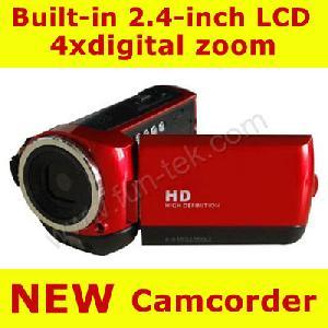 hd digital video camcorder camera 2 4 tft lcd 5mp 4xzoom dv 8gb