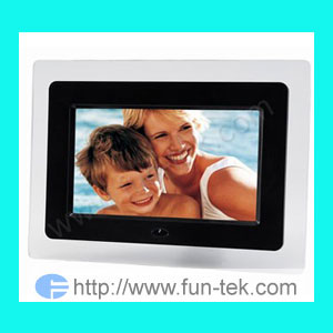 7inch digital photo frame picture dpf electronic album fun tek sd mmc cards usb 2 0