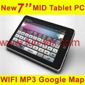 7inch touch screen google andriod 2 1 mid wifi mp3 2g 16g 800mhz tablet pc