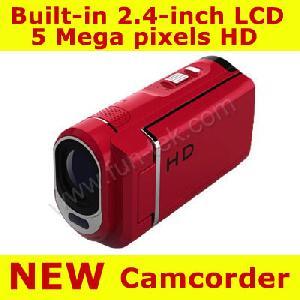 dv 120 8gb 5mp 4xzoom hd digital video camcorder camera 2 4inch tft lcd odm