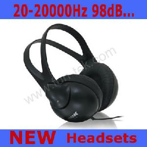 retractable stereo headphone headset earphone ep 2900s pc laptop mp3 skype