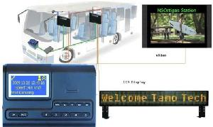 station audio video auto announcement display system trains buses gps technology