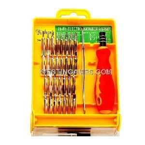 32 1 magnetic interchangeable screwdriver kit repair tools pocket