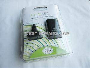 3600mah battery pack chargeable cable xbox 360