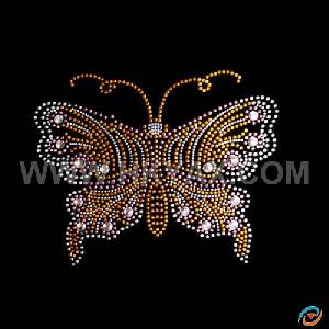 fix rhinestone butterfly motif