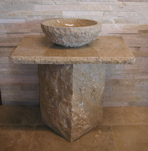 wash sink stone