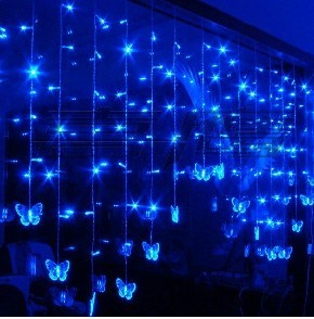 2m 1m 108 christmas led light butterfly wedding
