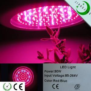90w spectrum triband ufo blue orange hydroponic lamp led plant growing light
