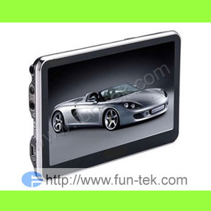 4 3 car gps navigation map 2gb card video fm mp3 mp4