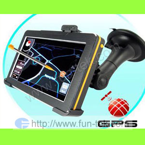 4 3 car gps navigation touch mp3 mp4 fm 2gb 2010 map