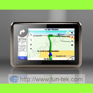 4 3 touch screen gps navigation fm mp3 map 2gb