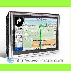 4 8 hd touch gps car navigation fm mp3 2gb tf card map