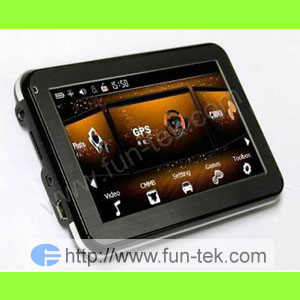 map 4 3 gps navigation mp3 mp4 fm transmitter 2gb