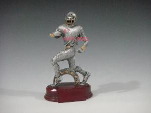 resin football trophy