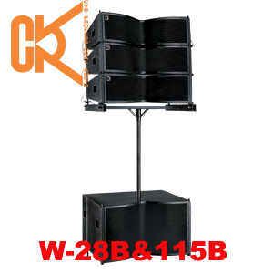 dual 8 line array speakers pro audio mini indoor